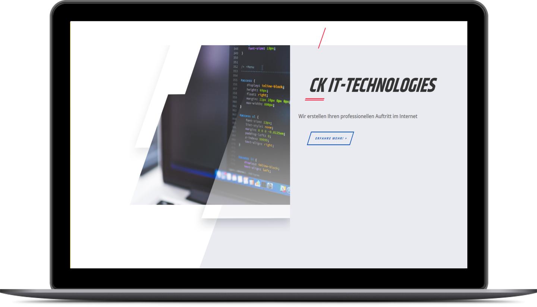 Rotes Webdesign für Ihre Website