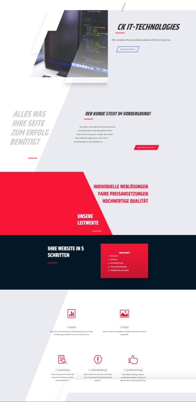 Ein rotes Design für Ihre Website