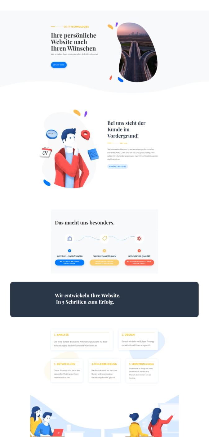 Ein weißes Design für Ihre Website